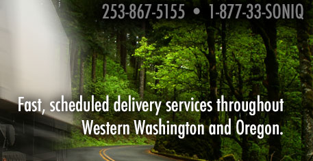 fast, scheduled delivery services throughout Western Washington and Northern Oregon